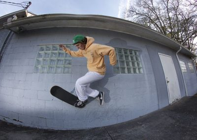 Grayson Miller, no-comply backside wallride